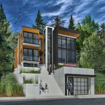 SW Hillside Home – Updated rendering